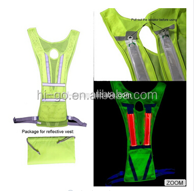 2017 new item hot selling products reflective vest led light for safety running road