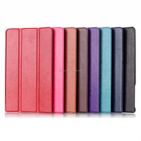 Ultrathin Three Folio Flip Leather Cover for Dell Venue 8 7000 Case with Stand