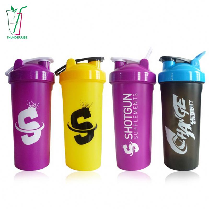 Custom Logo Sport Gym Fitness Power Shaker Water Bottle Wholesale Plastic Protein Shaker Bottle