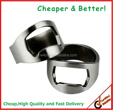 2016 Logo customized Stainless steel material Ring bottle opener