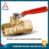 "1/4"" Female x Male NPT/G Mini Brass Ball Valve 500 Psi Fuel oil Gas Control Valve Made In China"