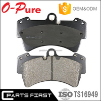 E-mark genuine China disc brake pad factory 95535293900 7l0698451b GDB1653 for VW Touareg