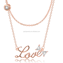 2018 fashion jewellery wedding gold plated love necklaces new gold chain design girls