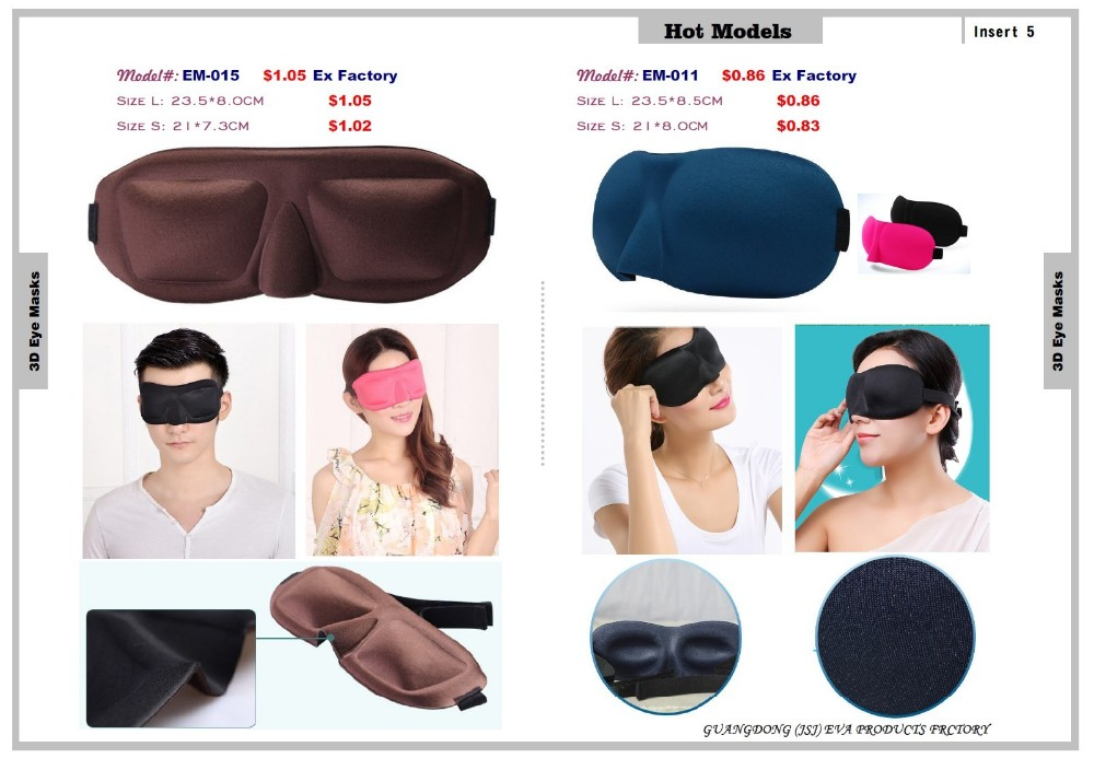 2018 3D Contured Sleep Mask, 3D Sleep Eye Mask, Silk Sleep Eye Mask EM-004