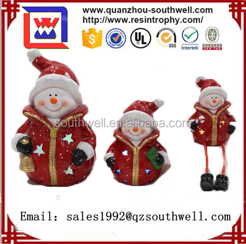 christmas outdoor snowman statues with trees resin snowman