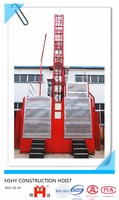 High quanlity and Stable new type three drive construction elevator for materials and passengers