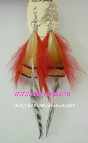 new style fashion party long feather earrings (HC-1030-3) wholesale, Paypal