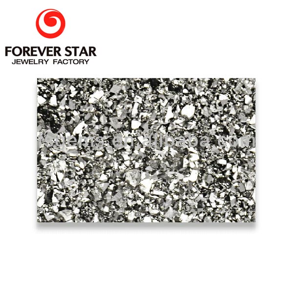 Guangzhou Wholesale price Rectangle Shape Silver Color 14*10mm Druzy Natural Quartz Geode Slices