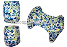 lovely printing babies printed velcro cloth diapers