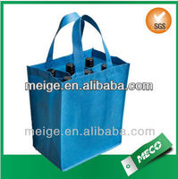 Hot Selling non woven ,polyester tote bag/non woven 6 bottle wine tote bag