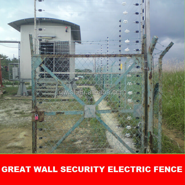 Anti cut high voltage security electric fence energizer perimeter solar fence