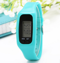 Promotional sports silicone pedometer,unique sports pedometer bracelet