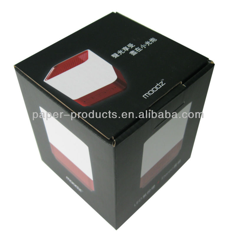 2013 hot product custom black corrugated matt paper packaging boxe for Loudspeaker Box