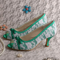 Turquoise Green shoes with White Lace