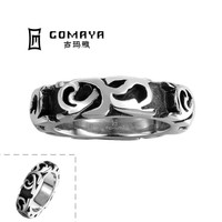 Wholesale Mixed Thin Ladies Retro Handmade 316l surgical stainless steel ring