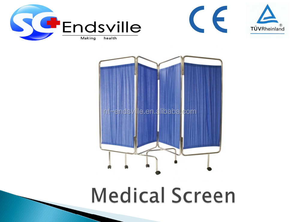 Medical hospital ward four foldable screen