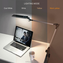 Desk Lamp Touch Sensor Kids LED Eye Care Lamp Light with Adjustable Aluminum arm for Home, Reading, Studying, Working (Silver)
