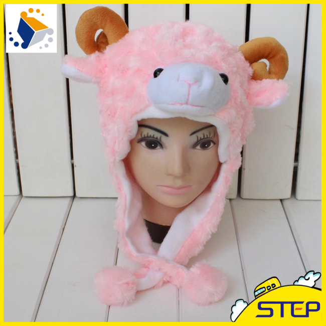 Lovely Sheep Style Hat And Cap Winter Hat Scarf Gloves Hat Cotton Set