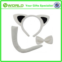 White Sexy Cat Ears Witch Pussy Cat Halloween Fancy Dress fashion Headband