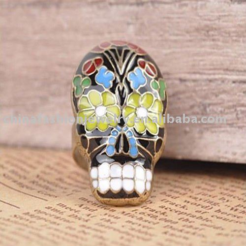 HSVRG0226 Newly Updated Peking Opera Skull Ring