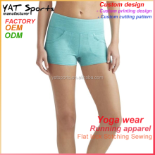 Wholesale fitness apparel manufacturers ladies active short pants running shorts