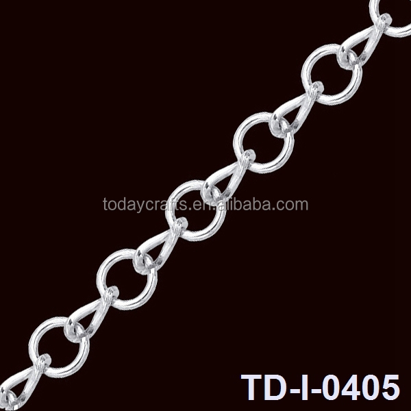 Hot selling iron material nickel plated thick decorative jewelry chain
