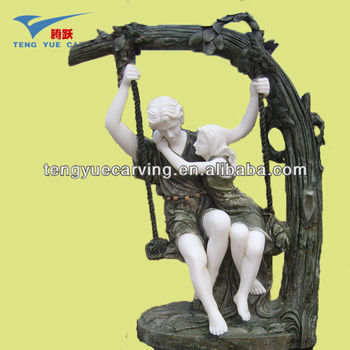 couple lover garden marble statue