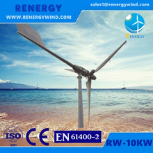 Chinese supplier 10KW pitch controlled high efficiency wind generator for sale