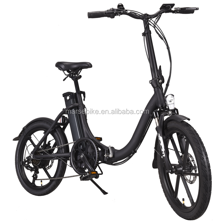 Aluminum magnesium wheel lithium battery folding electrical bicycle	with CE EN15194