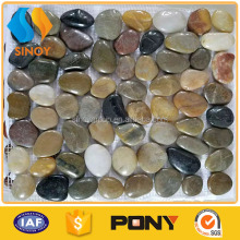 floor multi-color pebble tile