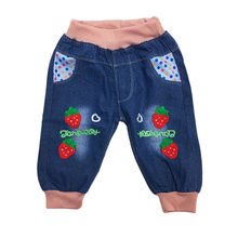 China factory fashionable printed new model jeans pants