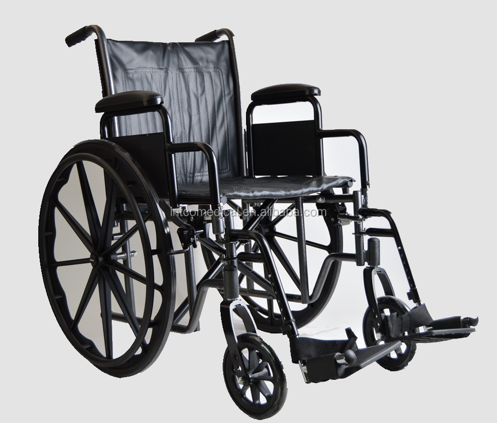 chrome plating manual wheelchair with steel frame
