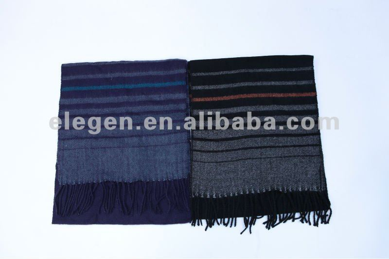 100%ACRYLIC WOVEN STRIPED SCARF