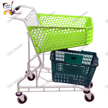 26L-170L Swivel Wheels Shopping Carts For Supermarkets