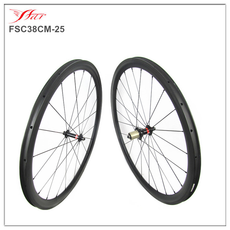 38mm clincher rims Novatec carbon wheels with Sapim spokes, 700C road racing bicycle whole wheelset, Novatec A291SB/F482SB hub