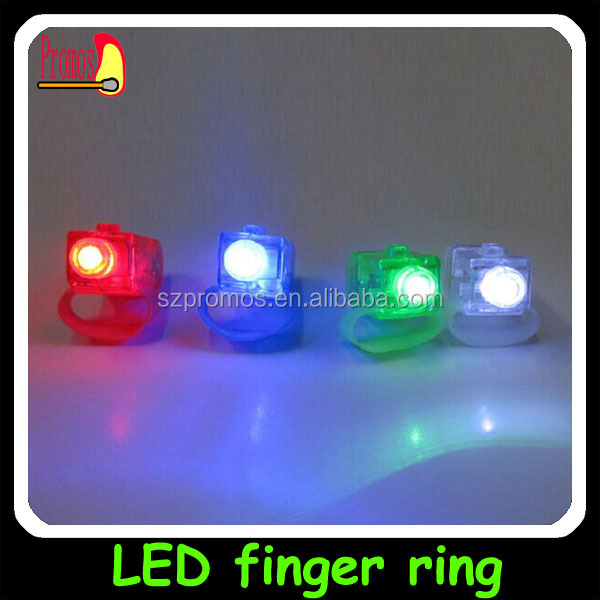 Led party women finger ring led lights