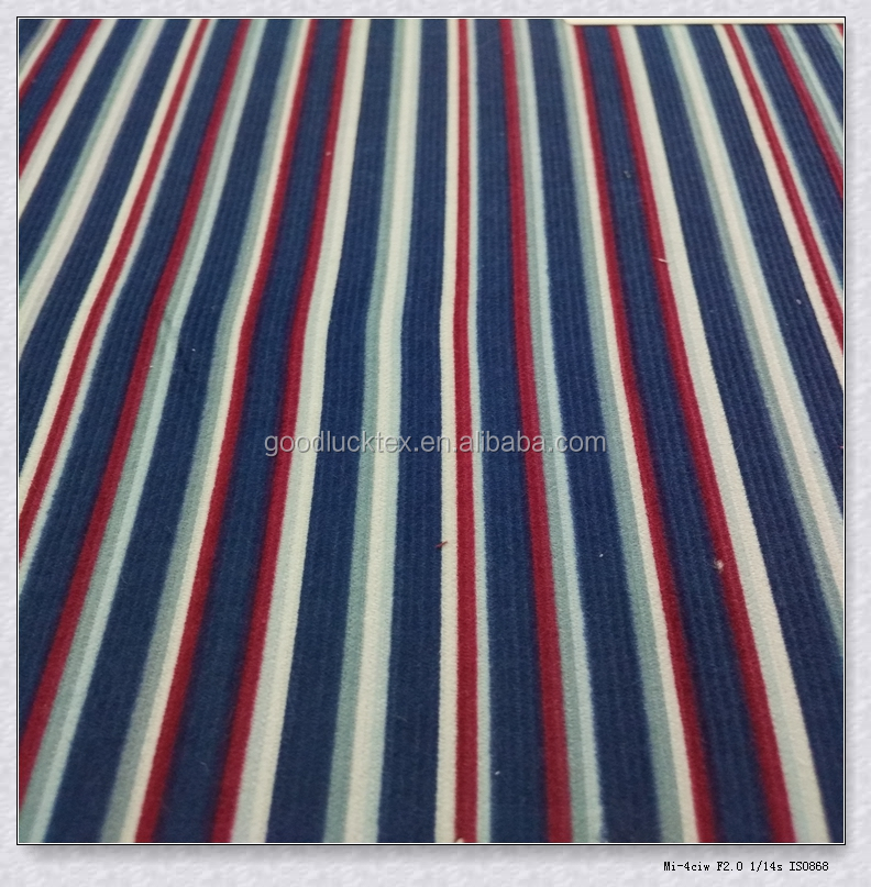 100%cotton 40*40 77*177 146gsm 55/56'' wide vertical stripes printed designs positive width /21 bar red blue white fabric