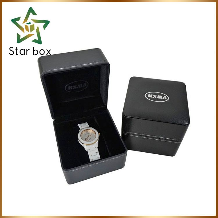 Factory Direct Wholesale round watch boxes for valentines day gift pu watch box wholesale