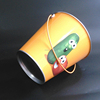 various size and shape colored tin pail