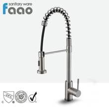 FAAO brass chromed upc 61-9 nsf pull out kitchen sink faucet