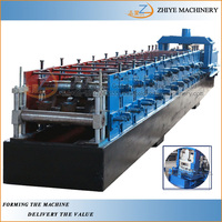 Z type steel purline cold roll forming making machine/Hydraulic C and Z Channel Rolling Forming line