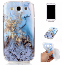 Custom New Ultra Thin Marble Pattern TPU Phone Case IMD Craft Mobile Accessory For Samsung S5 / S4 / S3