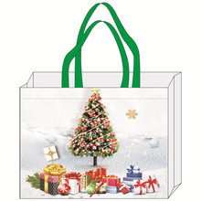 100% PP cheap custom OEM non woven colorful stocking shape christmas gift shopping bag
