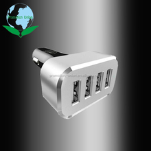 High quality 4 port Multi-Function Aluminum intelligent fast car usb charger
