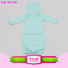 Boutique cotton fabric newborn kids gown picture everning sleeping wear clothing pictures for children gown