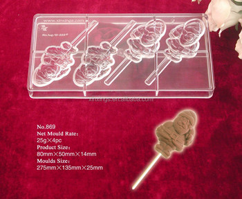 B869 chocolate lolly moulds