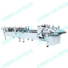 Plastic Carton Box 1 3 Corner 4 6 Corner Automatic Plastic Packaging Carton Folder Gluer Machine