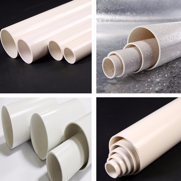 SCH standard water supply PVC materials plain pipes