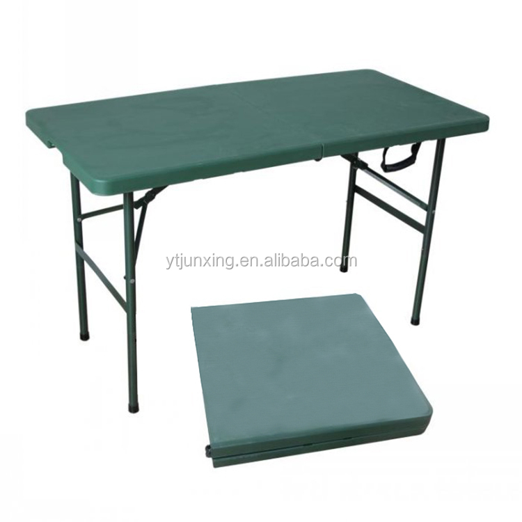 plastic outdoor folding table tops with metal table legs