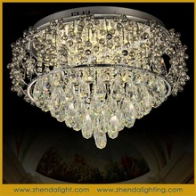 Wholesale energy saving antique style led ceiling lamp&k9 crystalpendant chandelier lamp made in zhongshan